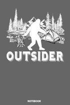 Notebook: Outsider Bigfoot