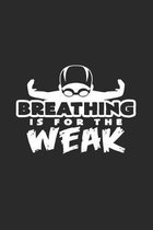 Breathing is weak: 6x9 Swimmingl - dotgrid - dot grid paper - notebook - notes