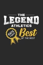 The Legend Athletic Best of the Best: 6x9 Athletics - grid - squared paper - notebook - notes