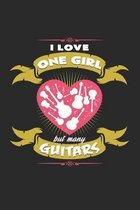 I love one girl but many guitars: 6x9 Guitar - dotgrid - dot grid paper - notebook - notes