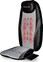 LifeGoods Shiatsu Stoel Massage Kussen - Elektrisch Nek en Rug Apparaat - met Warmte Functie – Zwart