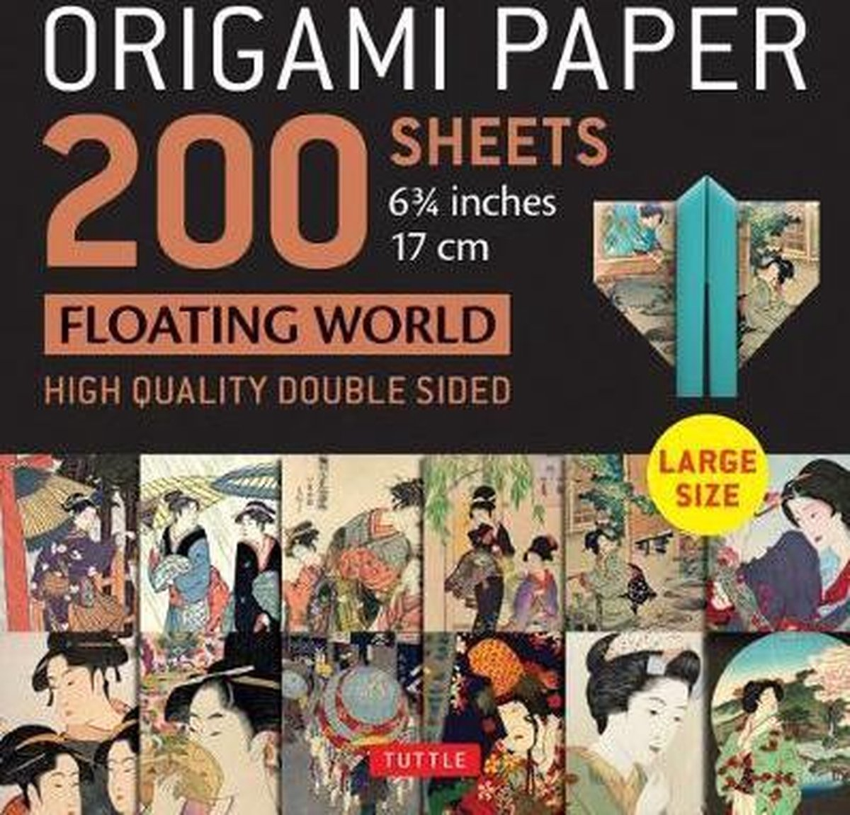 Origami Paper 200 sheets Floating World 6 3/4 (17 cm): Tuttle Origami Paper