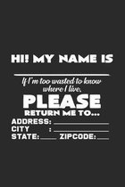 My name is please return me: 6x9 Disco. - dotgrid - dot grid paper - notebook - notes