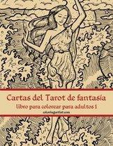 Cartas del Tarot de fantasia libro para colorear para adultos 1