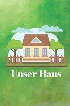 Unser Haus: Hausbau Tagebuch f�r zuk�nftige Hausbesitzer, Punkteraster Dot Grid Notizbuch, DIN A5, 120 Seiten