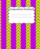 Composition Notebook: Bright Colored Vibrant Patterned Notebook With Wide Ruled Paper For Back To School