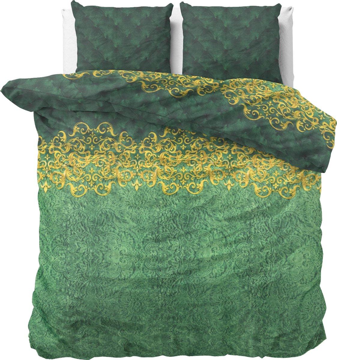 Sleeptime Petty Chrone - Dekbedovertrekset - Tweepersoons - 200x200/220 + 2 kussenslopen 60x70 - Groen kopen