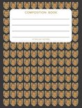 Retro Cat Pattern - Composition Book: College Ruled - 200 pages - 100 Sheets - 7.44''x 9.69''