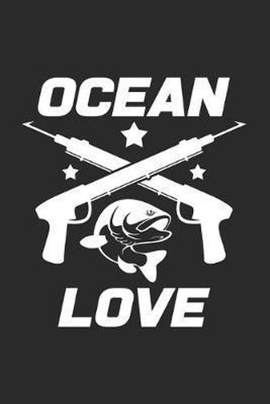 Ocean love: 6x9 Spearfishing - dotgrid - dot grid paper - notebook - notes