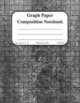 Graph Paper Composition Notebook: Grid Paper Notebook, Quad Ruled 4 squares per inch, 100 pages, 8.5 in x 11 in