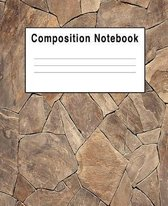 Composition Notebook: Rock Stone Abtract Geometetic