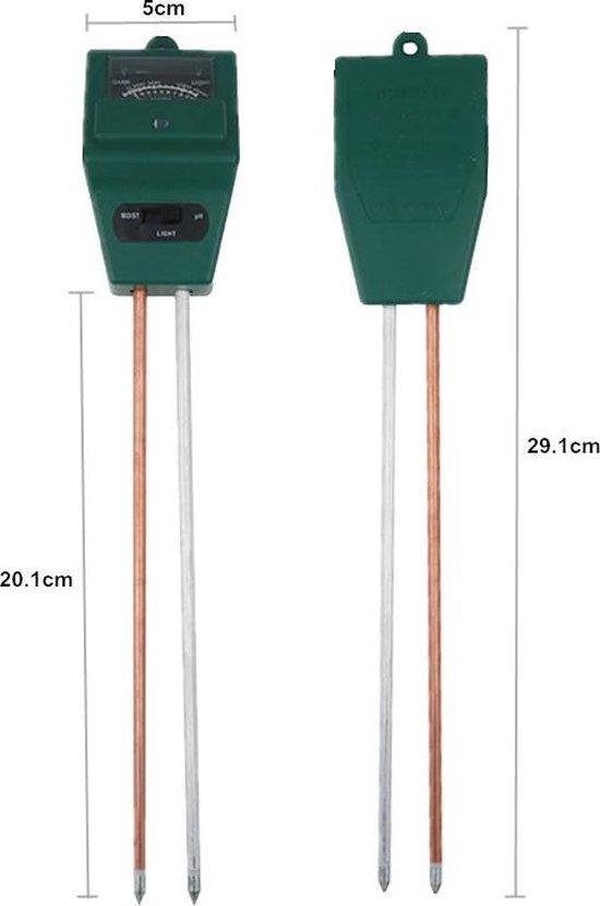 Vochtigheidsmeter - PH-meter - Meet PH en vochtigheid - Vochtmeter voor planten en stekjes