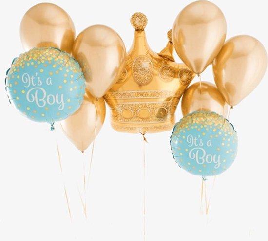 Luxe Grote Geboorte ballonnen set Jongen   It