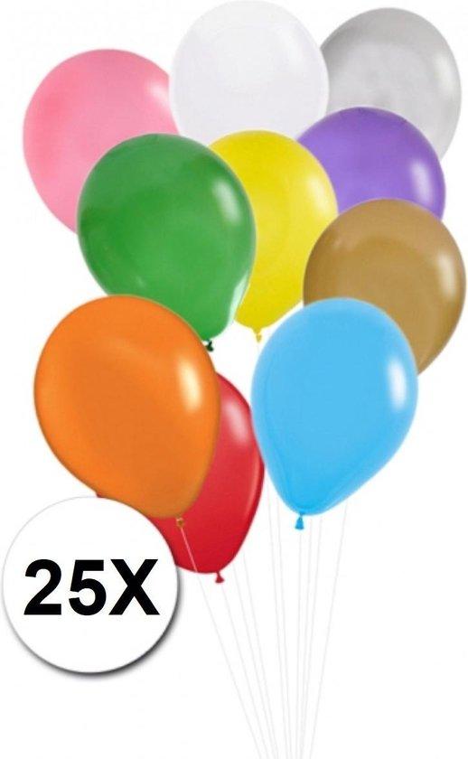 Gekleurde Ballonnen Feestversiering Latex Ballon 25st Verjaardag