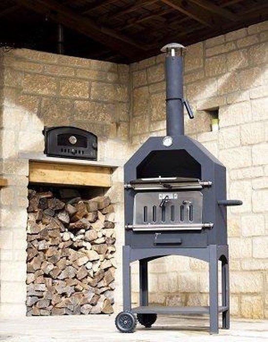 Maxx Pizza oven - Smoker barbecue houtskool 45 x 65 x 158cm