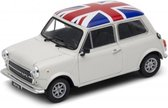 Mini Cooper 1300 UK vlag 1/34 Welly - Modelauto - Schaalmodel - Miniatuurauto - Model auto