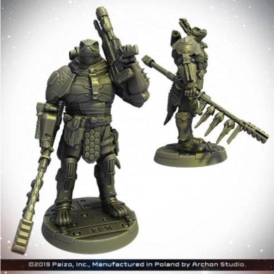 Afbeelding van het spel Starfinder Miniatures - Obozaya, Vesk Soldier