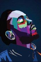 Canvas Schilderij * Kendrick Lamar Rapper, HipHop en Songwriter * - Kunst aan je Muur - Graffiti Art - kleur - 50 x 75 cm
