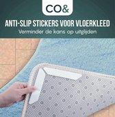 CO& 16 Anti-slip stickers voor vloerkleed en tapijt | 16 stuks | anti slip sticker tapijt | verminder kans op verschuiven van vloerkleed