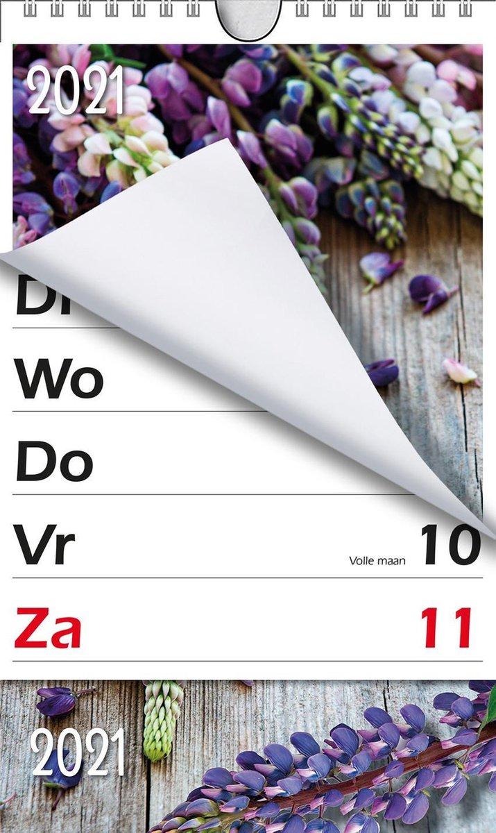 XL-kalender MGPcards 2021 - Omlegkalender - 1 week/1 pagina - Lupine - 21 x 27,3 cm - MGPcards