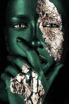 Fotokunst   Schilderij - Specials - Painted Green - 100 x 150 cm - Plexiglas of Dibond - Wanddecoratie - Xi Art