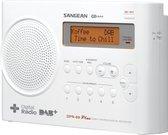 Sangean DPR-69+ - Draagbare radio met DAB+ - Wit