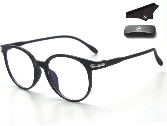 LC Eyewear Computerbril - Blauw Licht Bril - Blue Light Glasses - Unisex - Mat Zwart