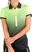 Sjeng Sports Sportpolo - Maat XL  - Vrouwen - lime groen,zwart