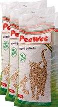 PeeWee Kattenbakvulling Houtkorrel - 3 x 14 L