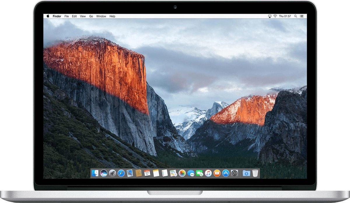 Apple MacBook Pro Retina (Refurbished) - 13.3 inch (33 cm) - Dual Core i5 2.7 - 8GB - 128GB SSD - MacOS 11 Big Sur - C-grade