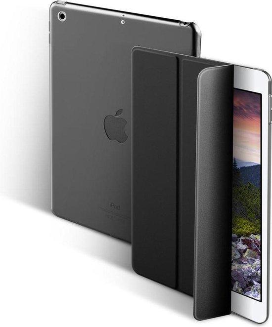 Glitter Case voor iPad 9.7 5/6/ Air1/Air2 2017/2018 Flip Cover – Modern Tablet Hoesje – Zwart