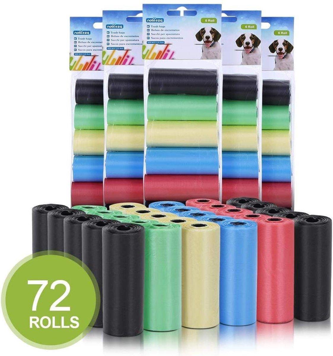 Nobleza Hondenpoepzakjes - 72 Rollen - 21 x 31.5 cm - Gekleurd kopen