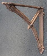 Gietijzeren plankdrager 25cm donkerbruin model stalraam - zwaar model