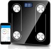 Digitale Bluetooth Personen Weegschaal met Volledige Lichaamsanalyse - Lichaamsgewicht - Vetpercentage - Spiermassa - BMI -Smart App - 10+ Verschillende Metingen - Modern Design