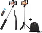 Tripod Selfie Stick  - Inclusief Luxe Draagtas - Statief Monopod - Camera Statief - Selfie Stick Universeel - Driepoot Statief - Statieven - Tripod