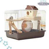 Tailstars Hamsterkooi – Knaagdierkooi – met Hamsterhuisje – Loopwiel – Hamster Kooi – Knaagdieren – Hamster/Dwerghamster/Muis
