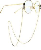 Goud Brillenkoordje - Brillenkoord - Zonnebrilkoord - Brilkoordje -  Brilketting – Brillenketting – Brilkoord - Ketting Voor Bril - Koord Bril
