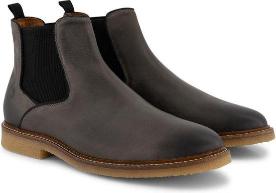 Travelin' Glasgow Chelsea - Halfhoge Leren herenschoen - boot - Nette schoenen - Donkergrijs Leer - Maat 43
