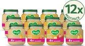 Olvarit variatiemenu Fruit - 4 maanden - 4 verschillende smaken - babyvoeding - 12 stuks