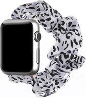 Apple Watch 44MM / 42MM Bandje Elastische Scrunchie Luipaard Print