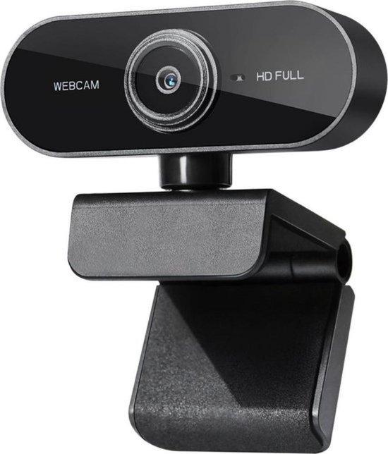Webcam Full HD - 1080p - Webcam Met Microfoon - USB - Autofocus - Thuiswerken - Webcam voor PC - Zwart - Windows & Mac