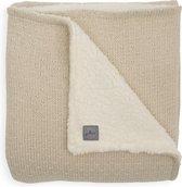 Jollein Ledikant deken teddy Bliss knit 100x150cm - nougat