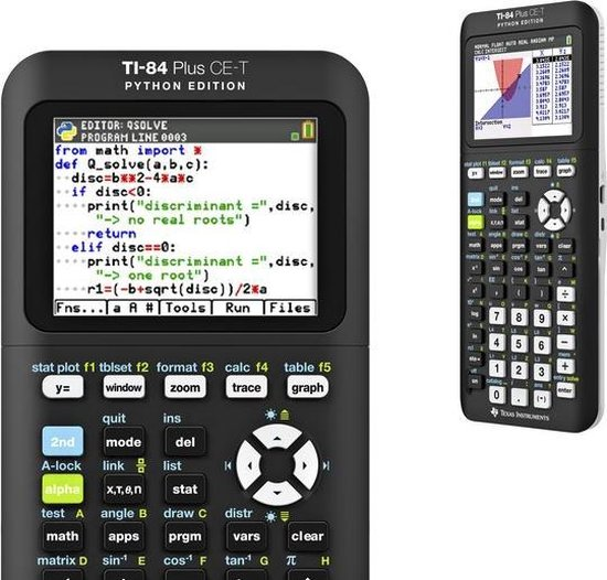 Rekenmachine TI-84 Plus CE-T Python Edition