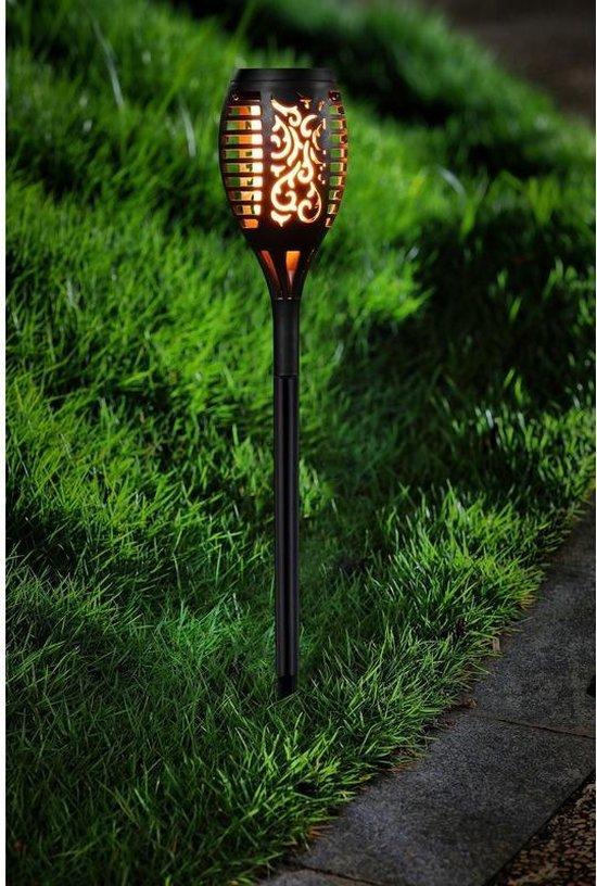 Tuinlamp solar fakkel / toorts met vlam effect 48,5 cm - sfeervolle tuinverlichting / tuinfakkel op zonne-energie