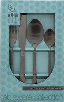 Excellent Houseware Bestekset - 16-delig - Goud - 4 Persoons