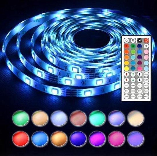 Top kwaliteit led Strip- 5 Meter- waterdicht- 44 keys RGB - zelfklevend- Led Strip met Afstandsbediening- RGB set- IP65 - LED Strip Verlichting- led strips- binnenverlichting- buitenverlichting -LED verlichting - Led light strip - Led lampjes- Mangry