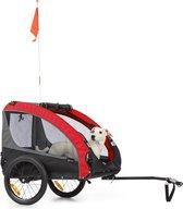 """Klarfit Husky Race hondenfietskar 282 liter - 75 x 85 x 137 cm (BxHxD) - Past bij alle fietsen met 26-28"""" - belastbaarheid van 40 kg"""