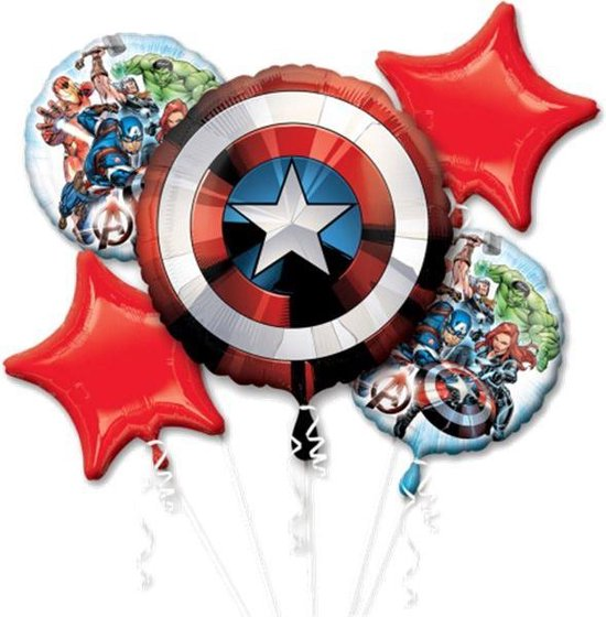 The Avengers Marvel Helium Ballon Set 5 delig leeg