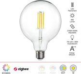 Zigbee Filament LED lamp | 125mm | Instelbaar 2700K tot 6500K | Vervangt 60W gloeilamp | Grote fitting E27 | compatible met Philips Hue en IKEA Home smart*