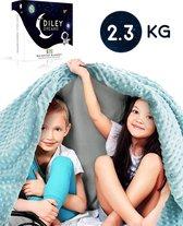 Diley Dreams® Verzwaringsdeken Kind 2.3kg – Weighted Blanket – Verzwaarde deken – Anti stress - Autisme – 90x120cm – Inclusief Comfortabele Hoes
